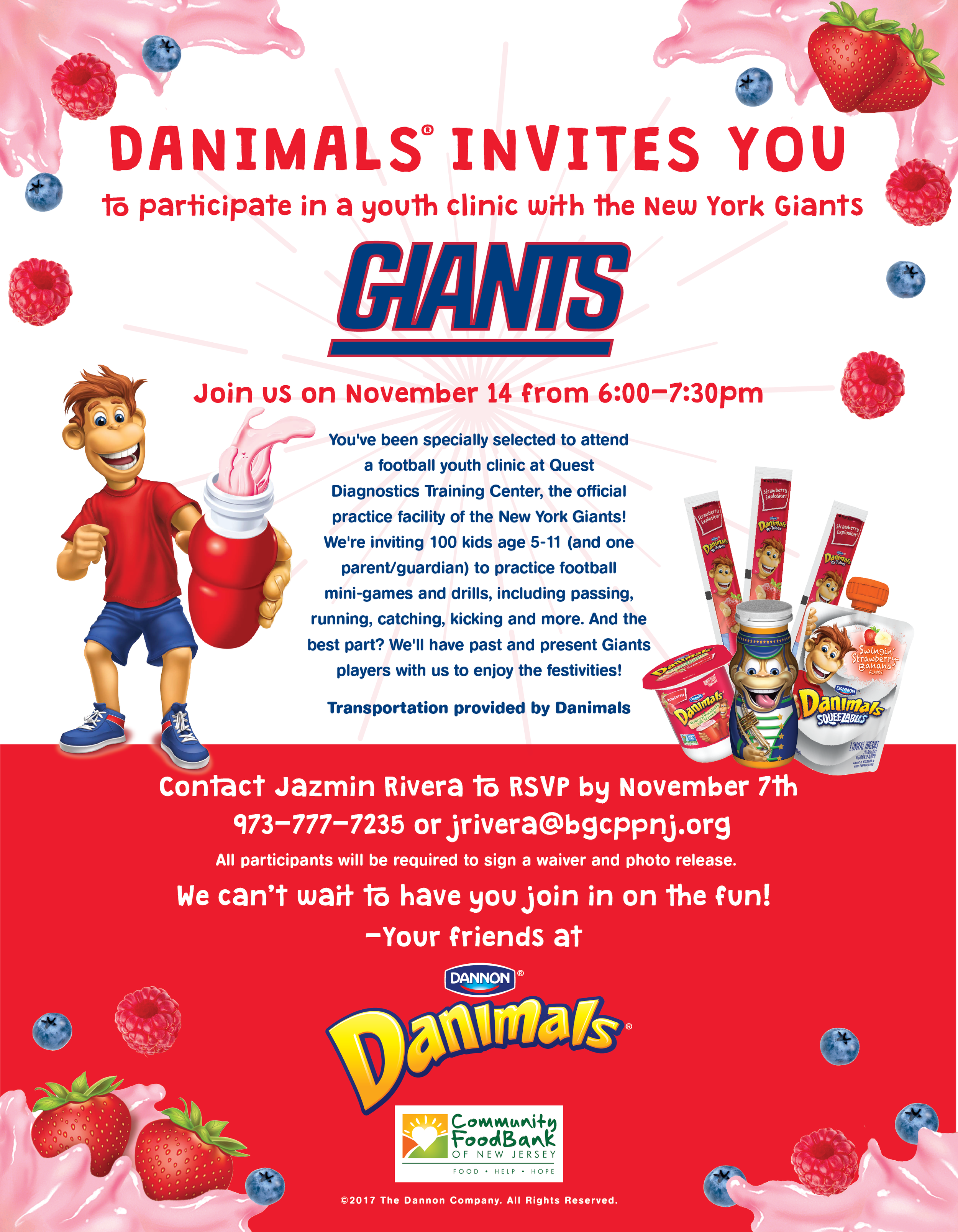 Danimals/New York Giants Event