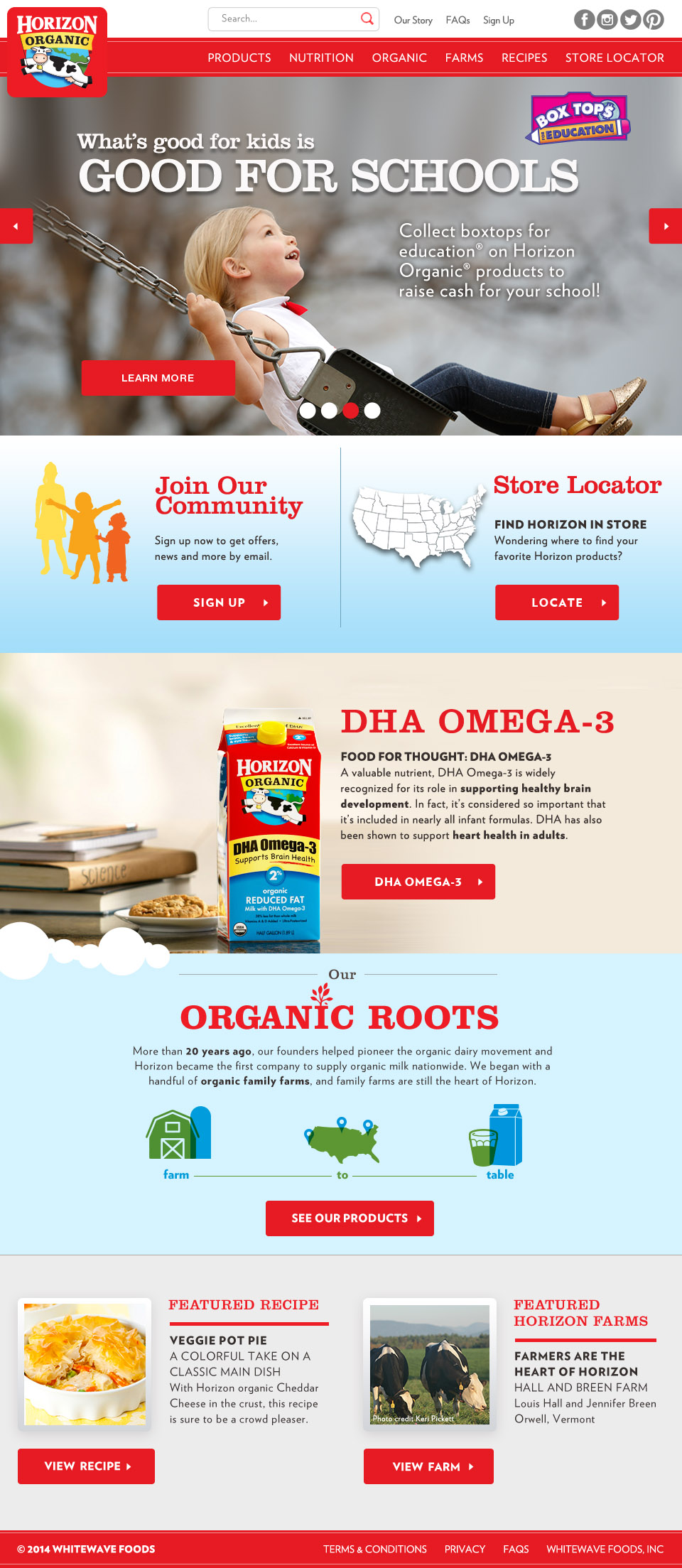 Horizon Organic Website Relaunch