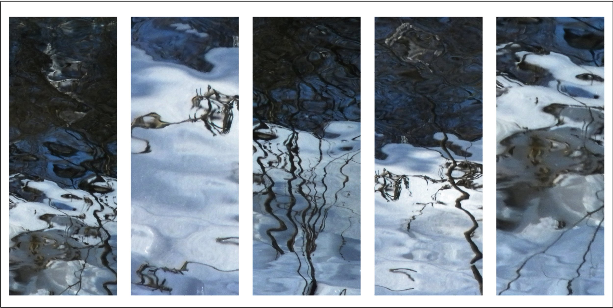 Beneath A Winter Moon  inkjet on aluminum 42 x 12 in. each 2011