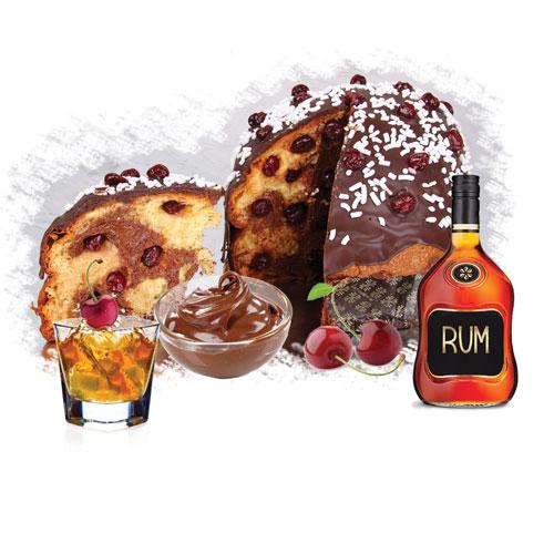 Panettone Rum Ricoperto Cioccolato