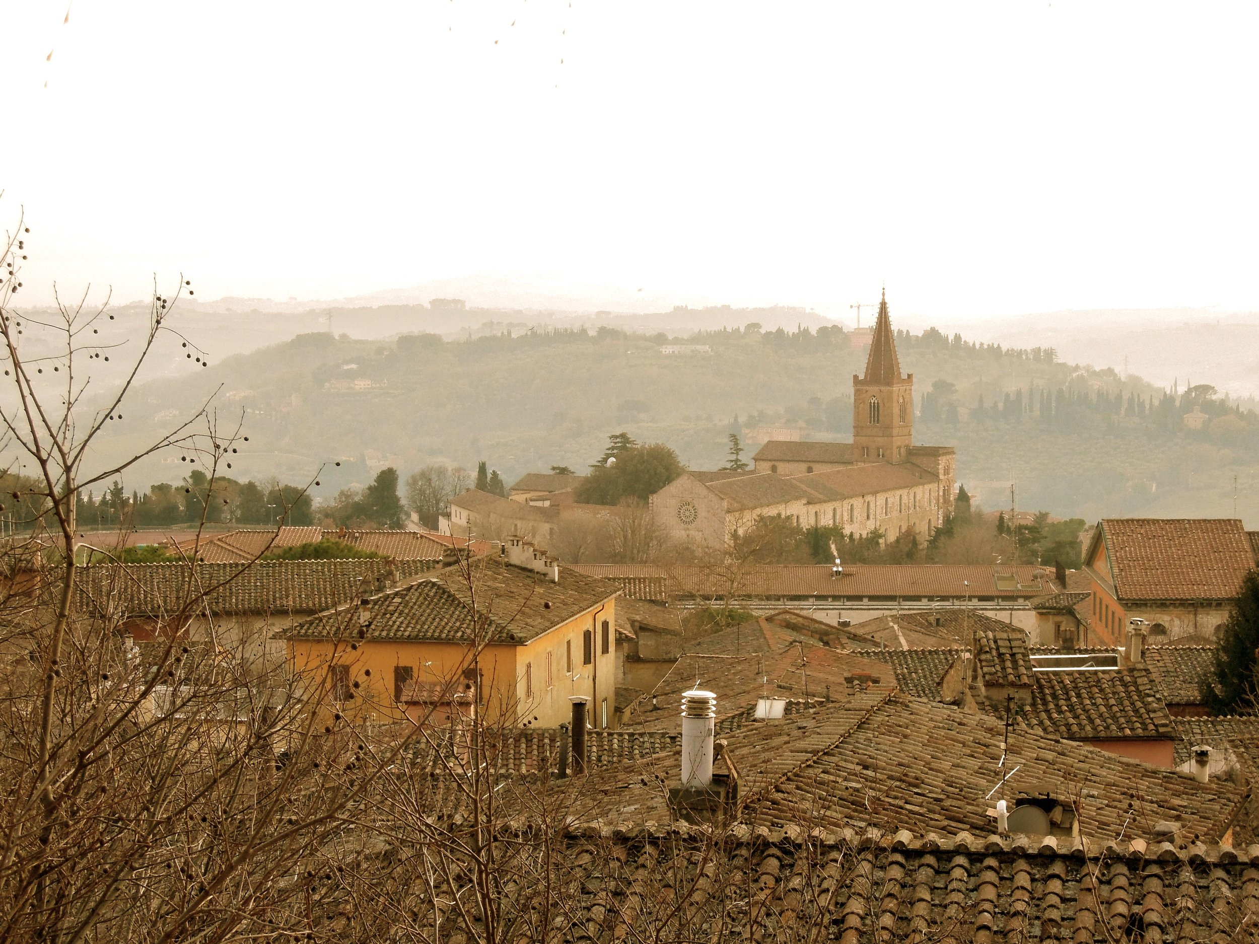 View from Perugia on a winter day. Photograph: Alison Testroete