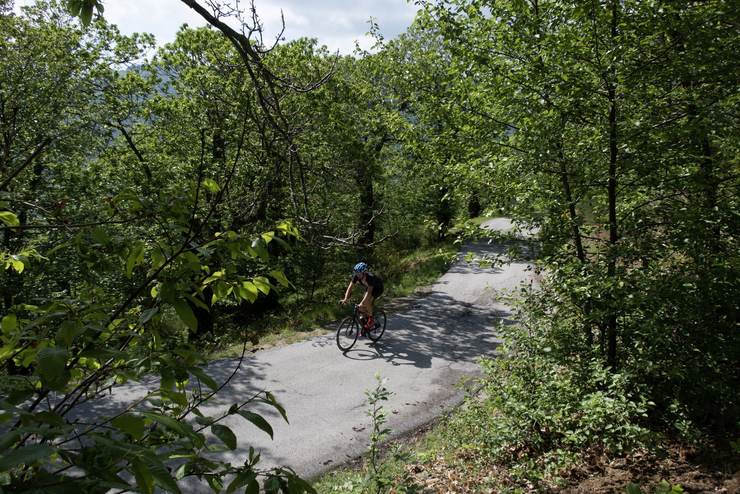 """8. Val di Vaiana - 5 km, avg. 9.9%Speaking of hidden climbs in Garfagnana, this one up to Renaio might be only five kilometres long but steep enough you'll want to stop and pet the sheep halfway. At 18 hairpins, it's like an eerie Alpe d'Huez of Tuscany. Ride in via Barga and out Tiglio Basso. Then do the loop in reverse. Of course, not before a visit to the Masterpieces of Sweetness in Barga, """"Theobroma Capolavori di Dolcezza."""""""