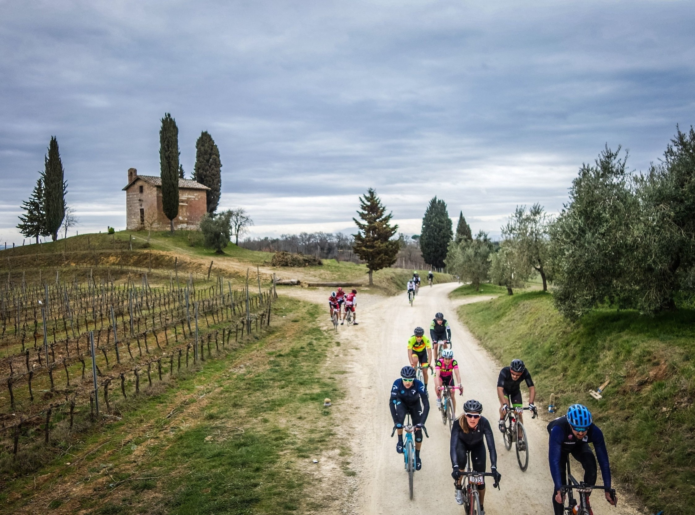 Gran Fondo Strade Bianche - Imagine crisp spring air, the uncertainty of rain or shine, historic Siena packed to the brim with pros and anything but, and fine white dust that brings peace and meaning to only a cyclist.