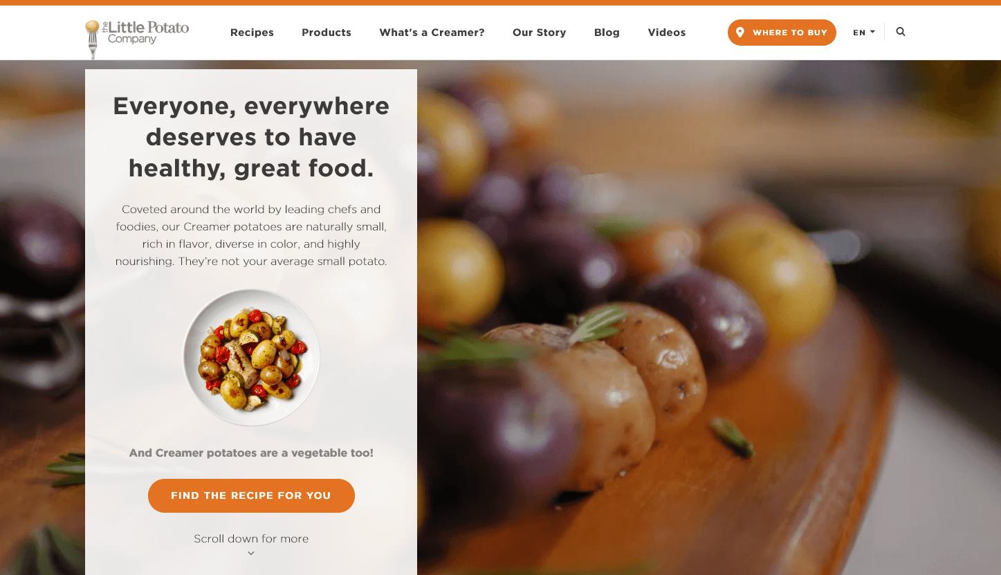 Ux Design Case Study For The Little Potato Company Dexter Yun