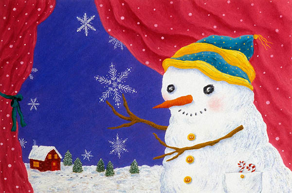 virginiahalstead.com/Blog/Snowman-painting-from-book-Spectacular-Science-illustrated-by-Virginia-Halstead