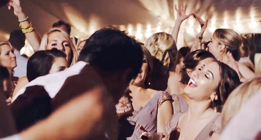 Kerry's bridesmaids dancing to Cupids Wish