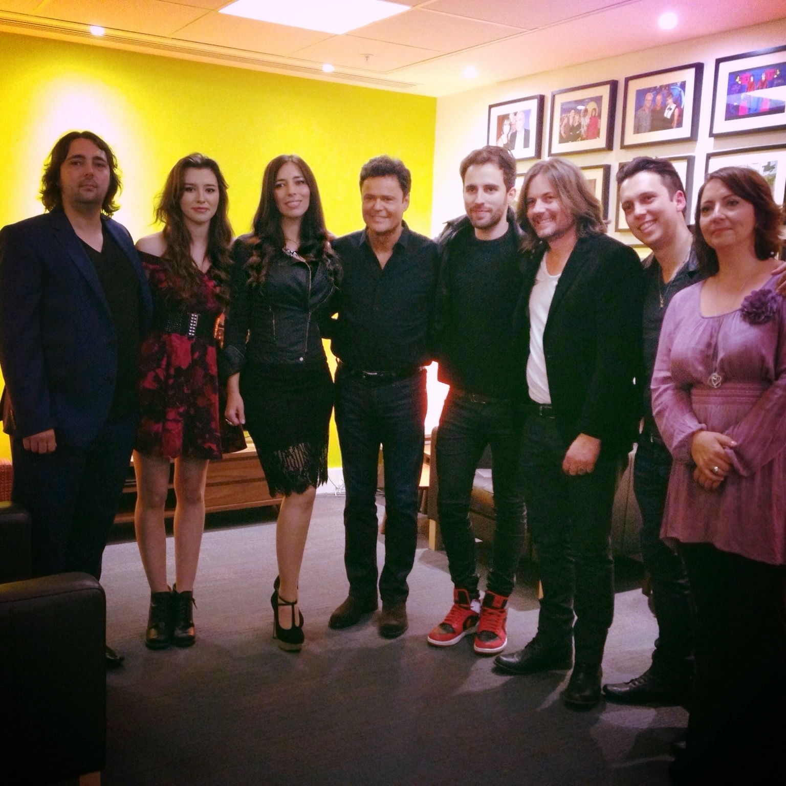 "Donny Osmond.    ""Fantastic job you guys!""      ""It's been a pleasure to sing with you Georgia. We'll have to do it again some other time!""    After we sang for Donny live on the One Show, he invited my family and us back to the Green Room and Donny and I sang a duet together. It was quite surreal not just because he's the one and only Donny Osmond but because his voice was just so beautiful and tender."