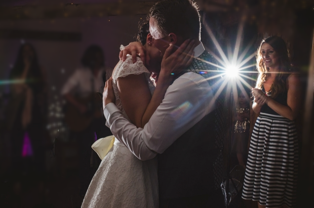 Our gorgeous couple Nicola and Dan's first dance at Jimmy's Farm in Suffolk. Photo credit - Sophie Duckworth.