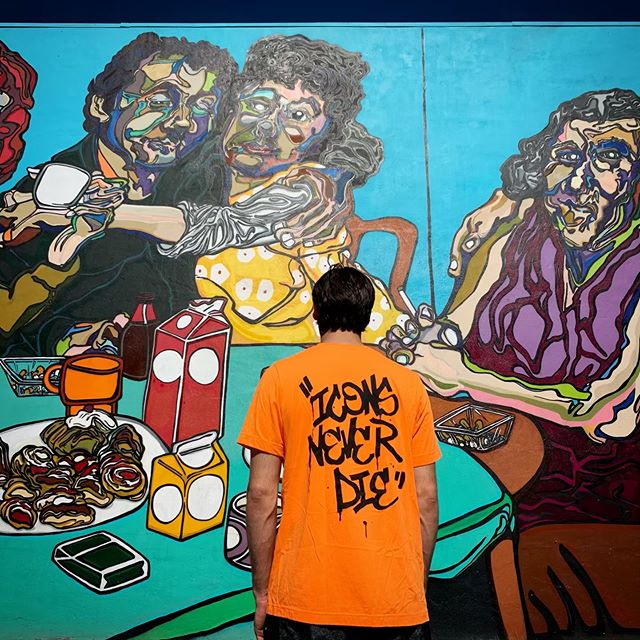 •Summer Colors• Graffiti Tee $40  Free shipping LINK IN BIO!