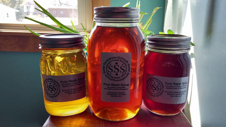 maple syrup varieties.