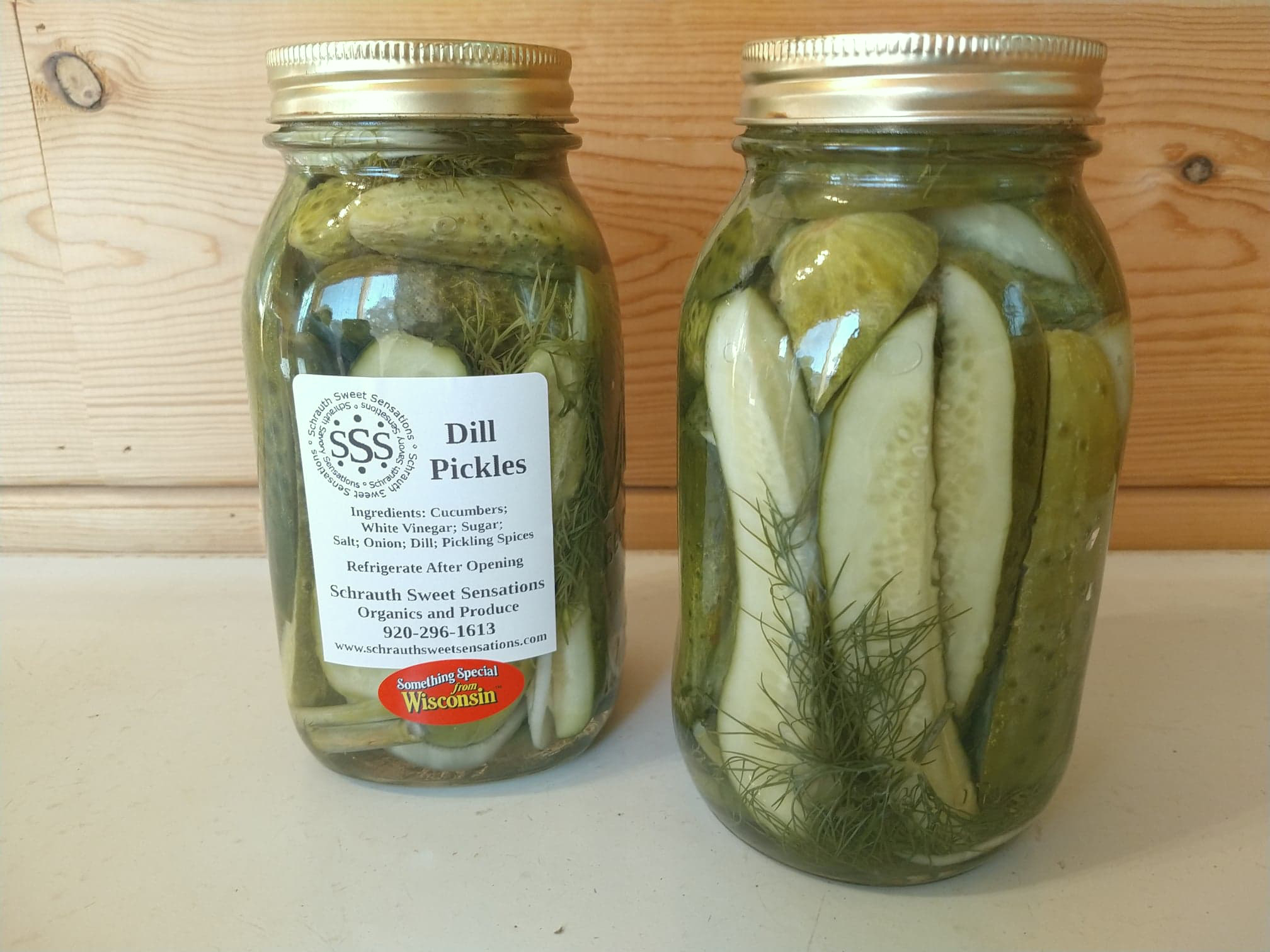 Dill Pickles - Fresh garden grown cucumbers are pickled in our dilly brine making it aperfect snack!$10.00 - Quart Jar