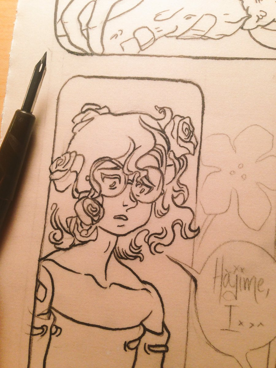 inking in process (Agony in Bloom)