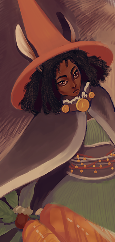 detail from bunny witch