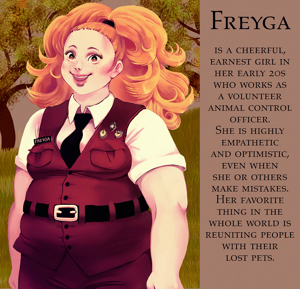 Freyga character design
