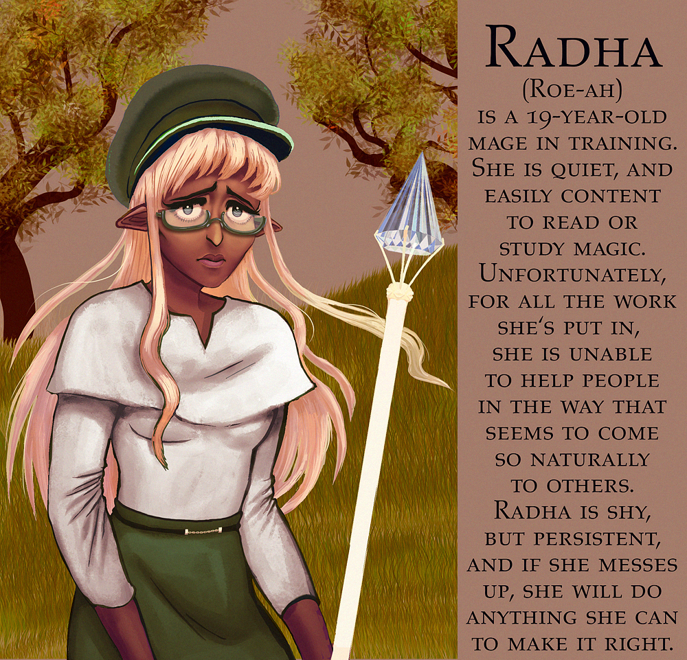Radha character design