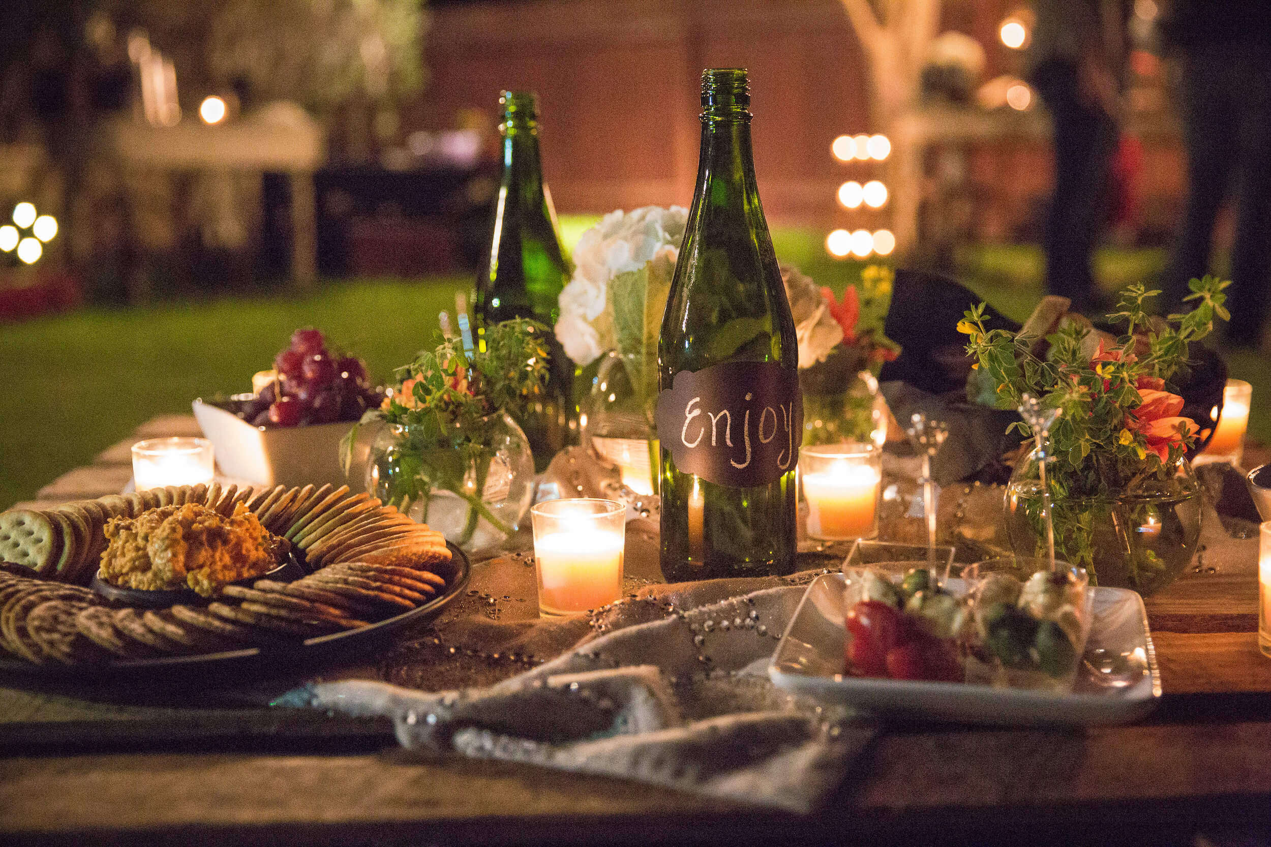 Rustic Cheese and Wine Dinner Party -