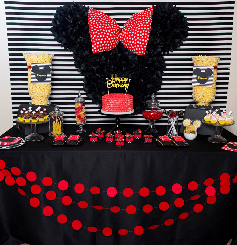 Minnie And Mickey Mouse Birthday Party Decorations  from images.squarespace-cdn.com