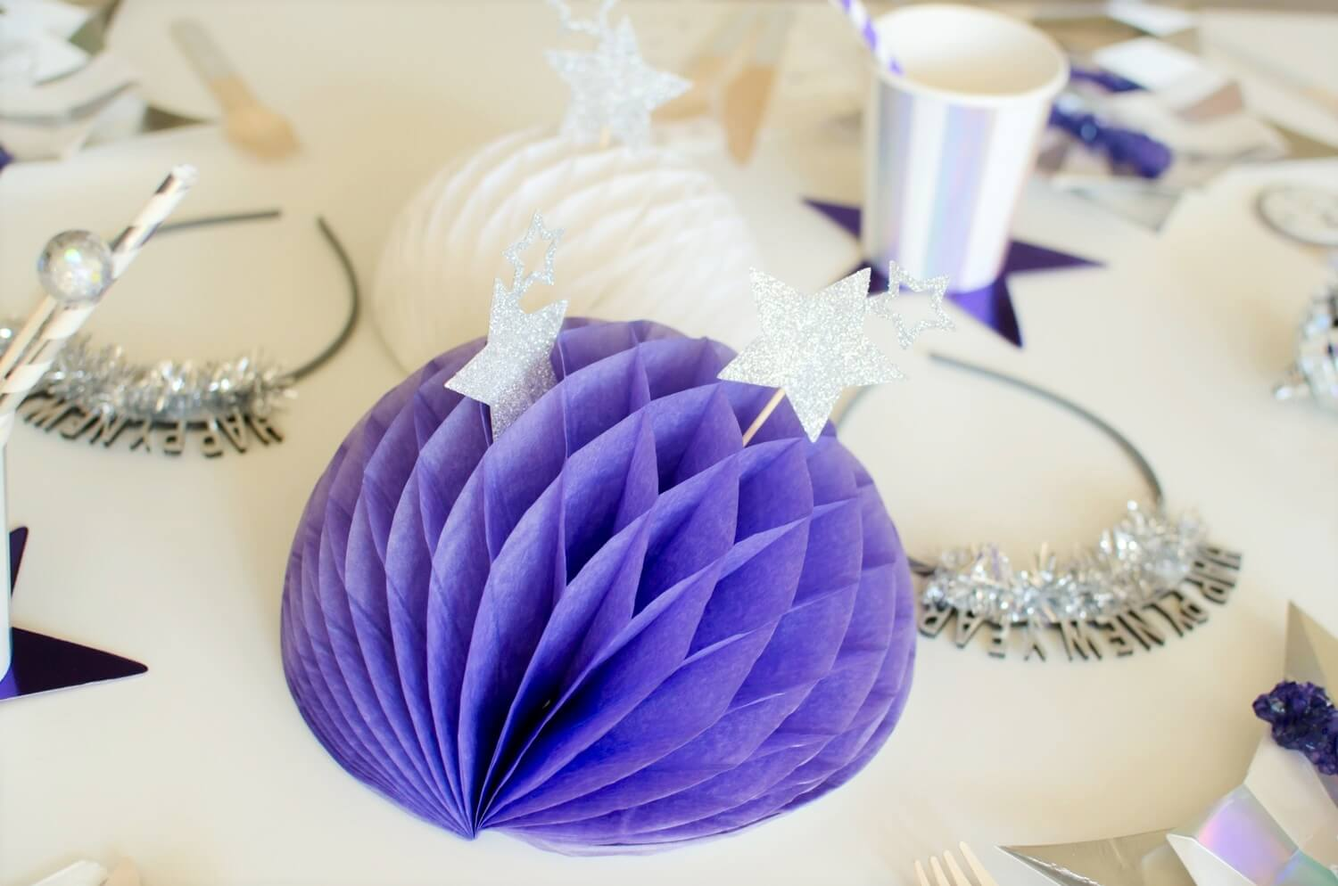 New Years centerpiece idea!  More details for a New Years party is on the blog