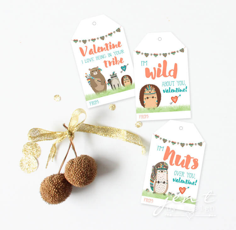 Valentines day printables / Valentines gift ideas / Valentines for classmates / www.minteventdesign.com