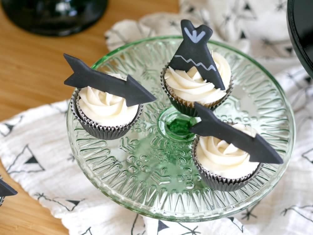 Tribal cupcake topper ideas / Be Brave cupcake topper ideas