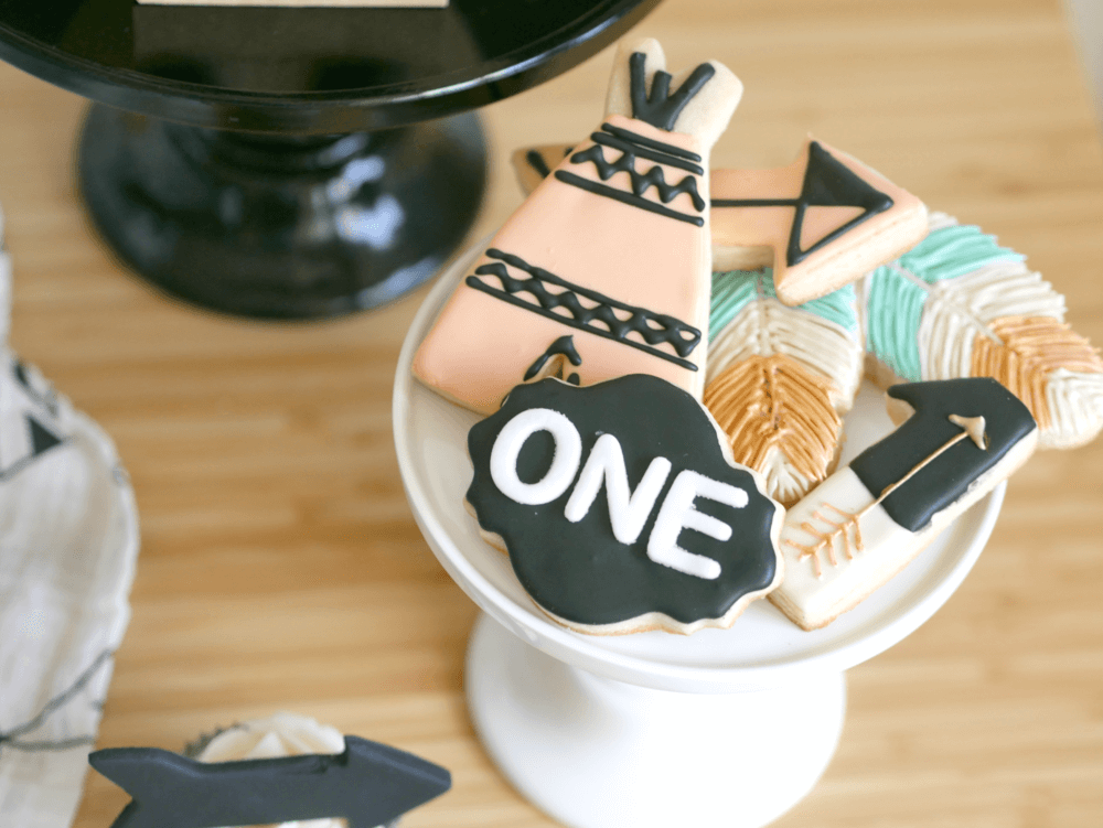Be brave cookie ideas / tribal cookie ideas / first birthday cookie ideas