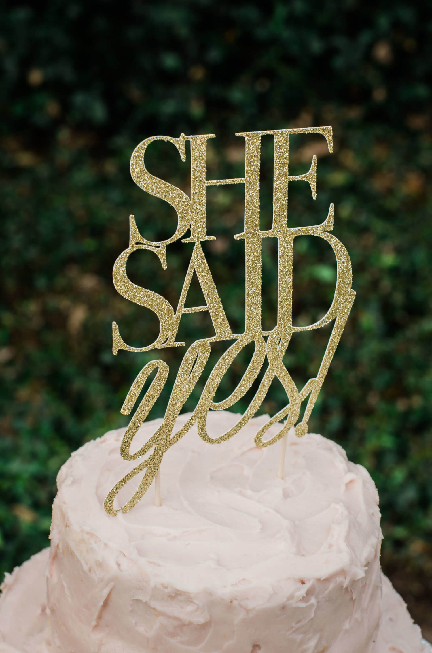 She said Yes /She said yes cake topper / Bridal Shower dessert table / Garden Bridal / Shabby Chic Bridal Shower idea / Baby Shower party ideas and decor / Bridal Shower desserts / Baby Shower desserts ideas / Shabby Chic dessert table idea / Style by Carolina from MINT Event Design / www.minteventdesign.com