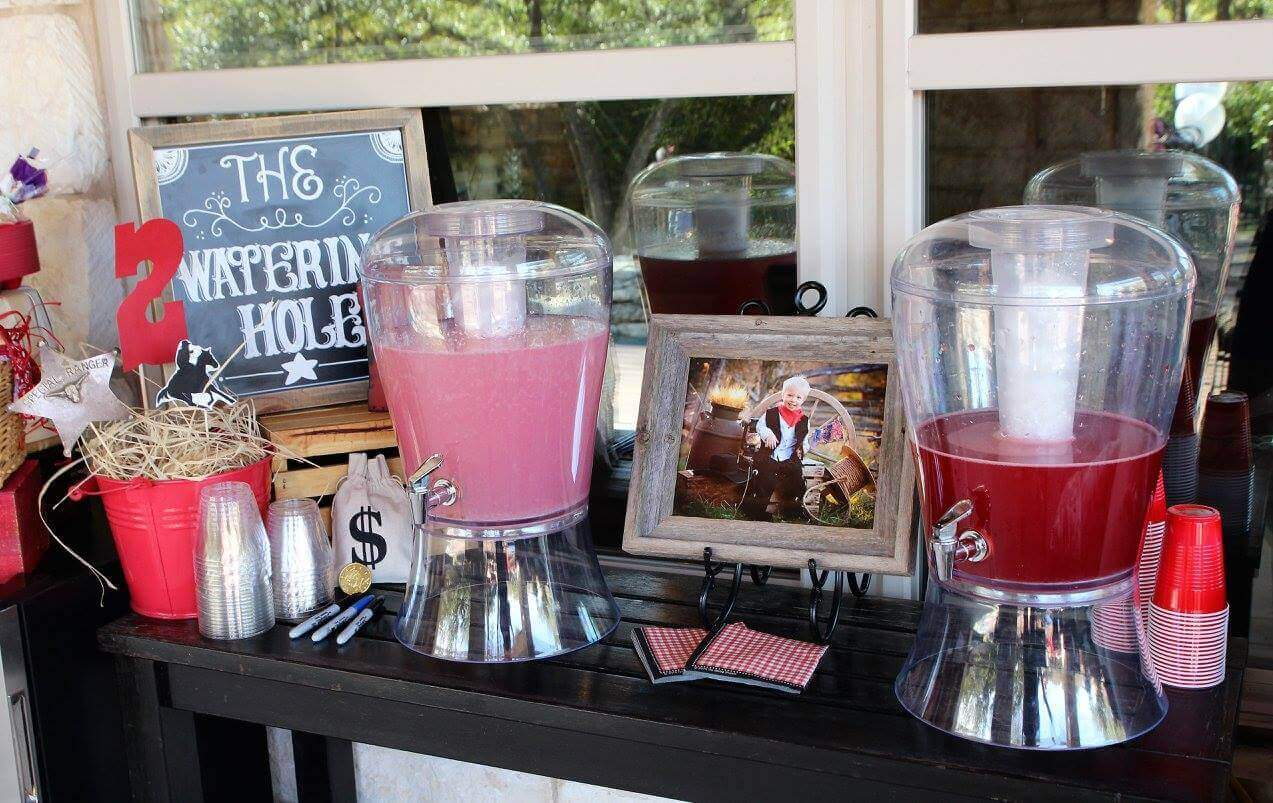 Drink Station Idea for a Cowboy Party