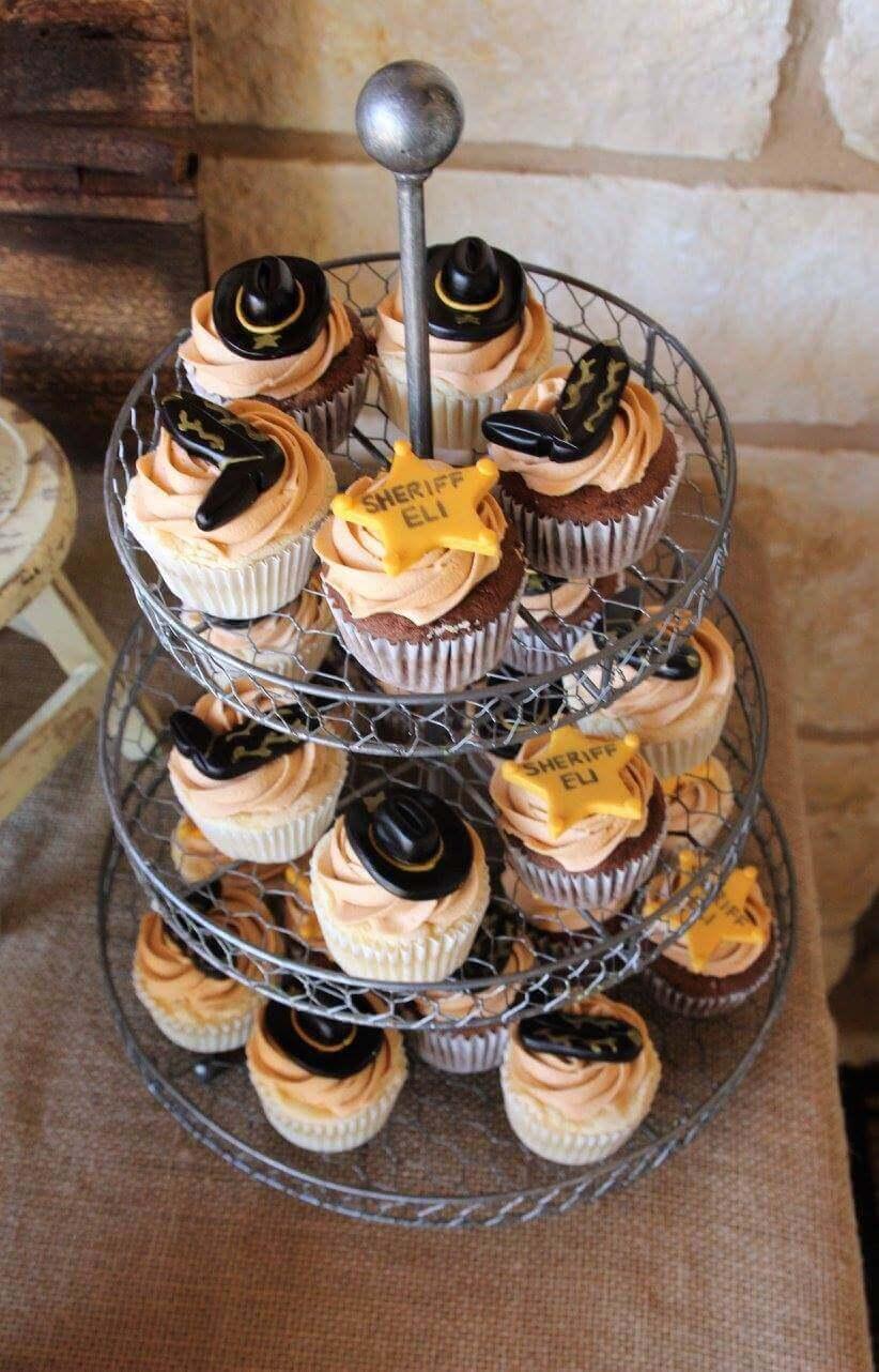 Cowboy Birthday Party Cupcakes