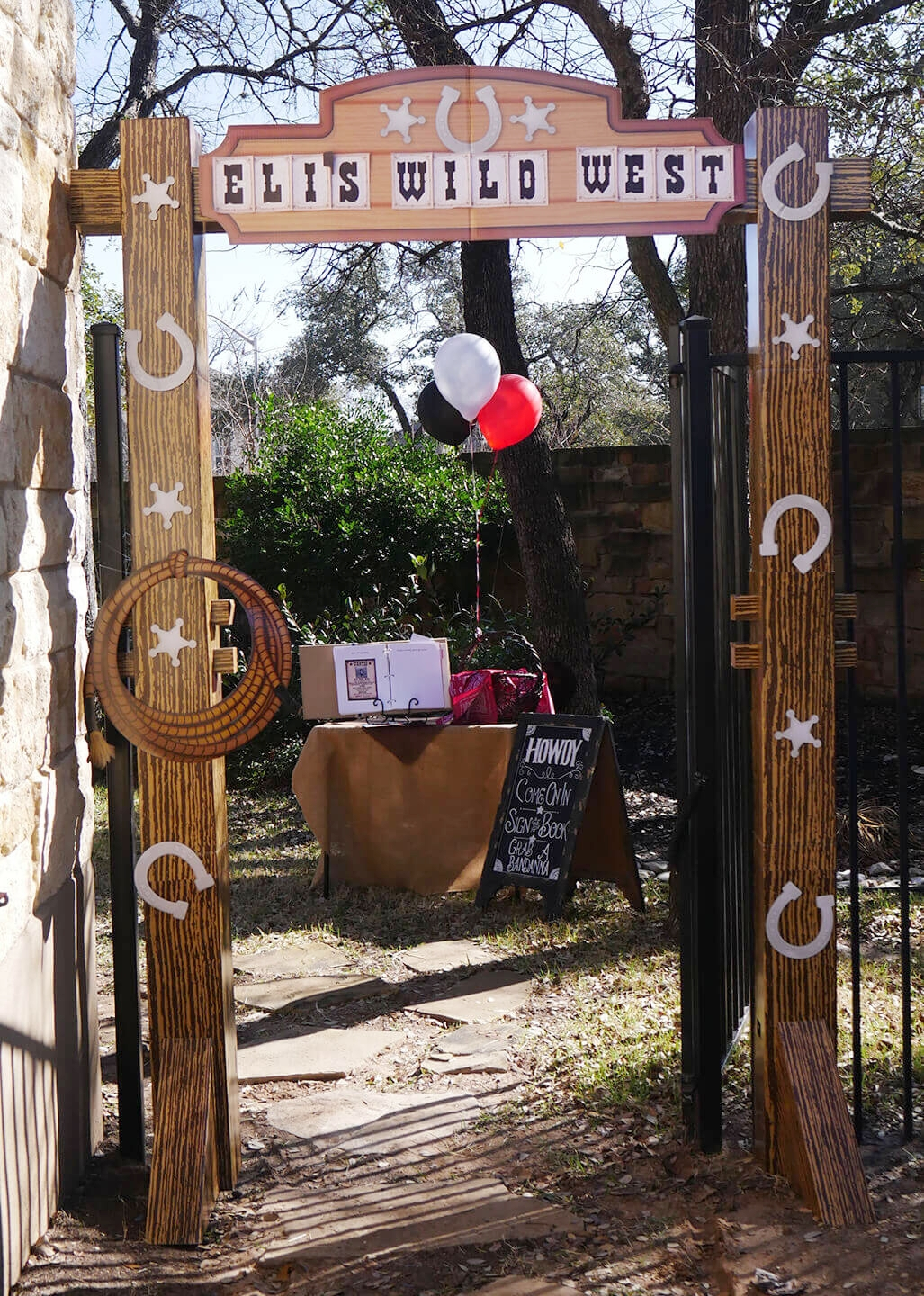 Wild West Birthday Party Grand Entrance