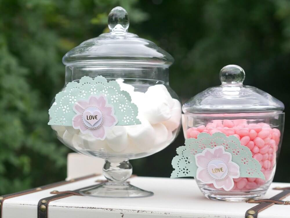 French Cottage Bridal Shower Ideas / Outdoor Bridal Shower ideas and decor / Pastel colors Bridal Shower Ideas / Candy Jars / Shabby Chic Bridal Shower Ideas / Bridal Shower dessert table idea / Baby Shower dessert table idea / Styled by Carolina from MINT Event Design / www.minteventdesign.com