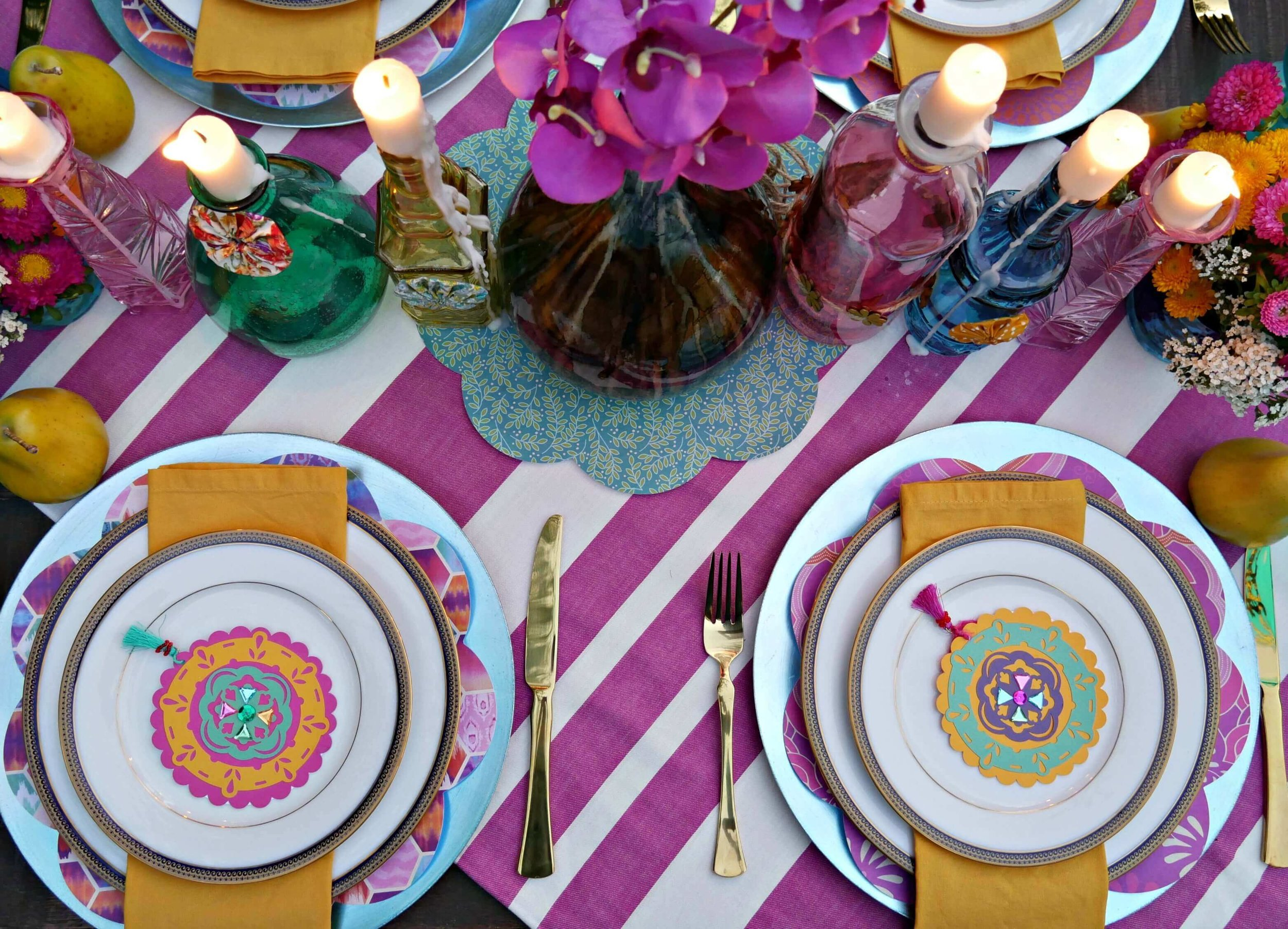 Be inspired with these Gypsy Party Ideas for an engagement party or any life celebration. Styled by Mint Event Design in Austin Texas www.minteventdesign.com #engagementideas #tablesetting #tablescapes #bohochic