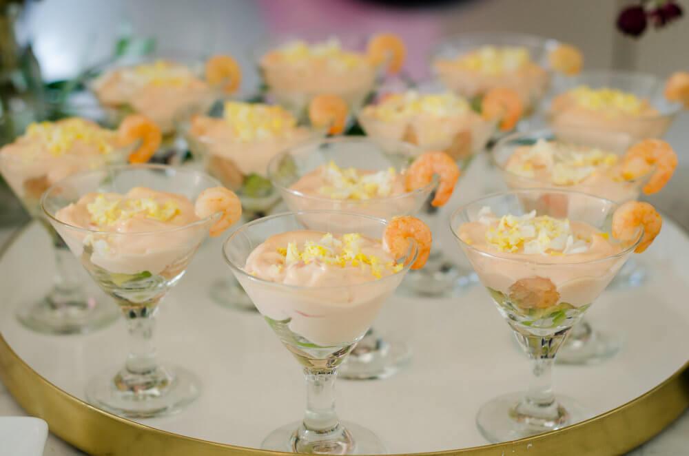 Pretty way to serve shrimp cocktail