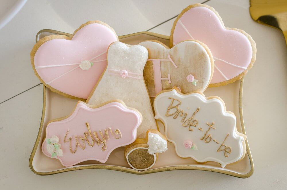 Bridal Shower Royal icing cookies