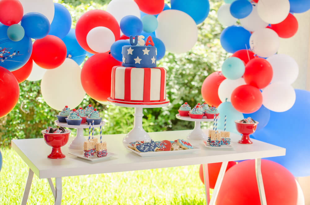 Fun and festive 4th of July dessert table.