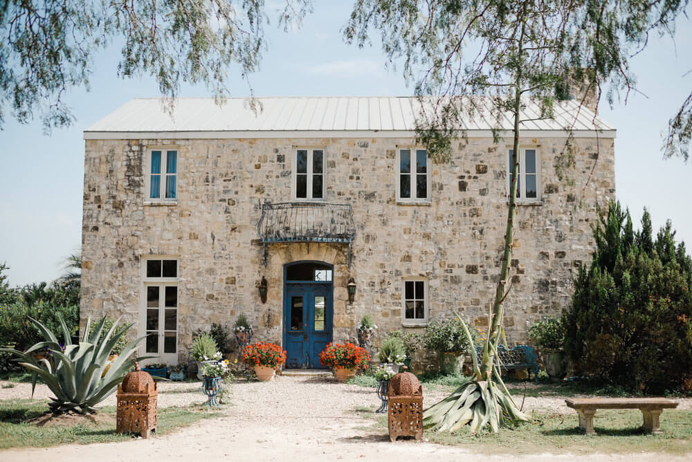 French country wedding inspiration venue location in Texas.