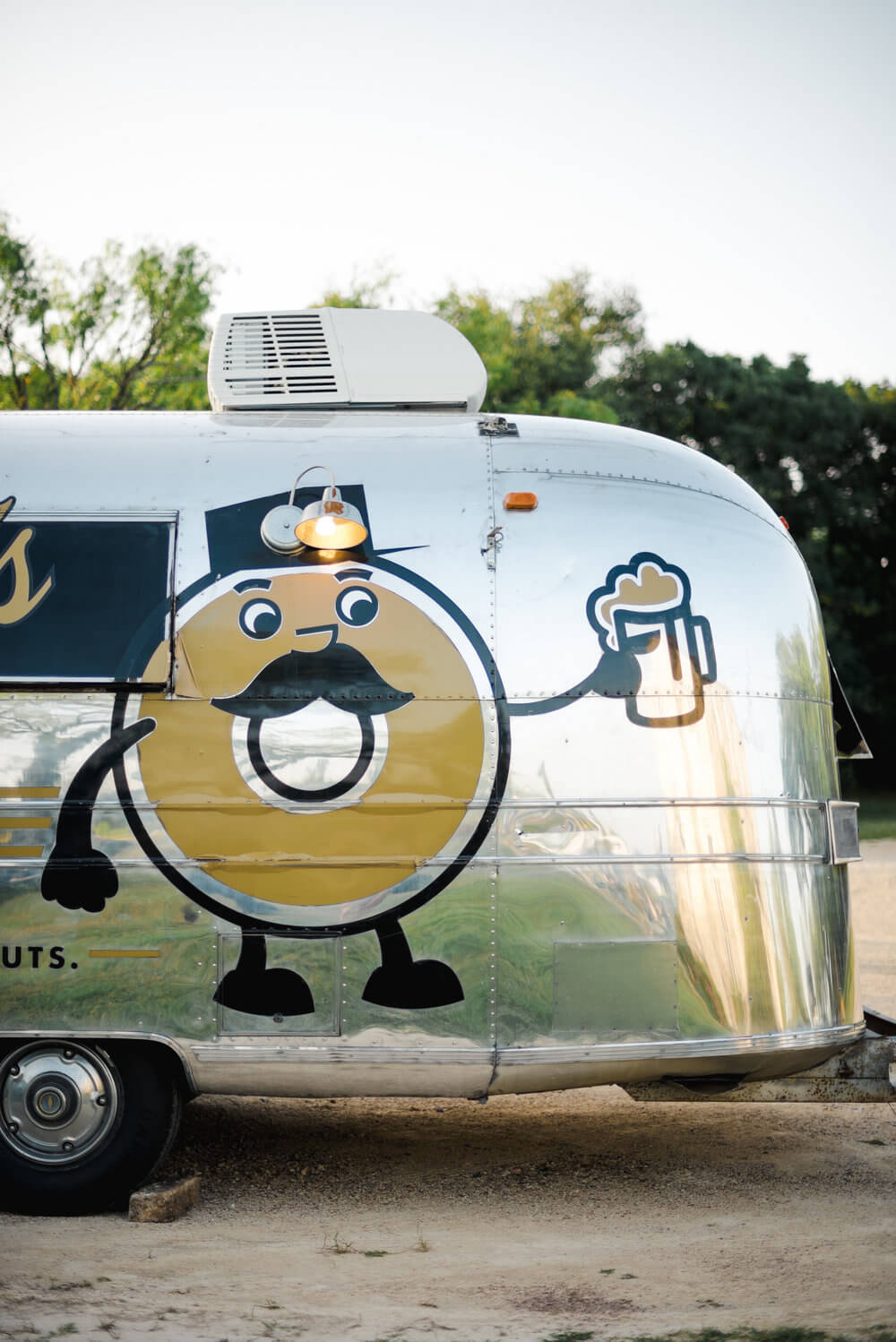 The couple hired Gourdough's food truck to cater their wedding.