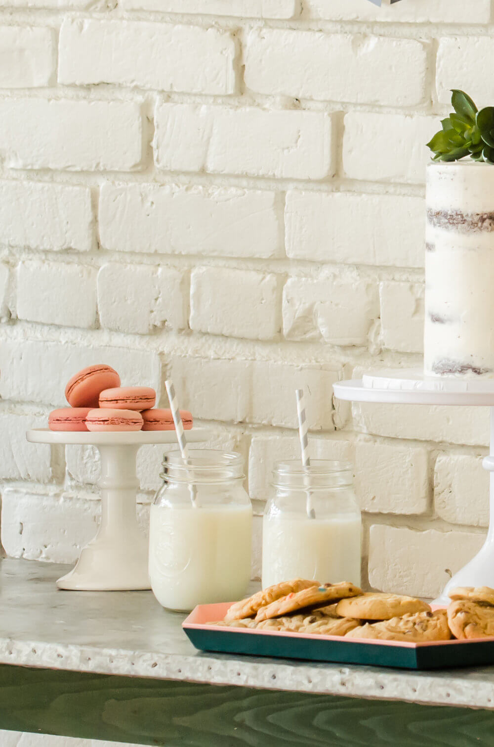 Milk and cookies for a back to school party.jpg