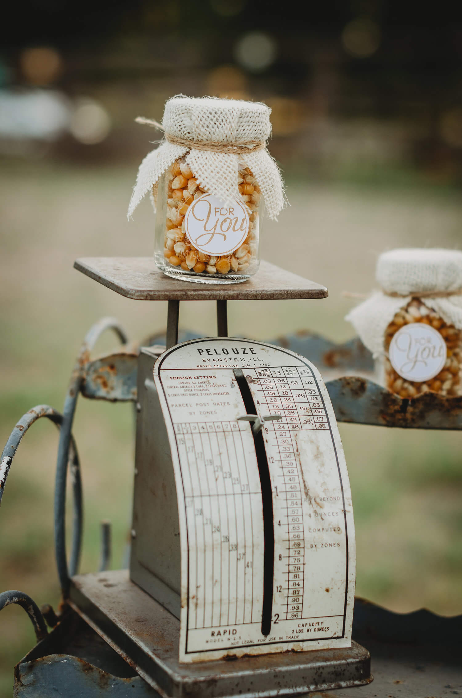 Find unique items to display your party favors on. Click to see even more rustic party ideas from this fall themed bridal shower. Created by party stylist Mint Event Design. #bridalshowers #bridalshowerideas #rusticwedding #rusticbridalshower #bridalshowerdecor #farmwedding #partyideas #fallbridalshower
