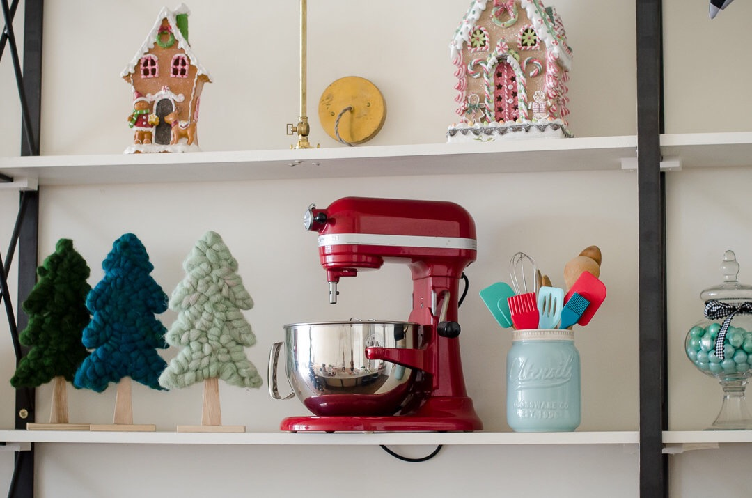 Retro appliances and baking utensils add character to this holiday baking party. See more holiday party inspiration from Austin based party stylist Mint Event Design at www.minteventdesign.com #holidaypartydecor #holidayparty #holidays #partyideas #christmasparty #holidaypartyideas