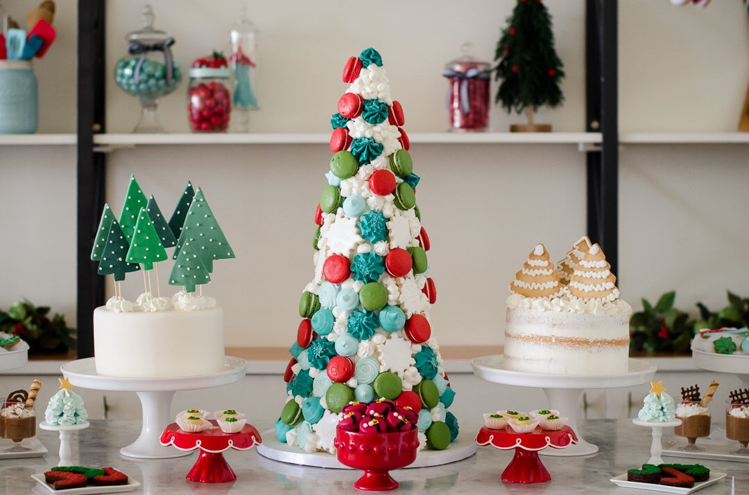 So many beautiful holiday desserts at this lovely retro Christmas party. There's a little bit of whimsy and a touch of Christmas cheer at this dessert table. See more holiday party inspiration from Austin based party stylist Mint Event Design at www.minteventdesign.com #desserttable #christmasdesserts #holidayparty #holidays #partyideas #christmasparty #holidaypartyideas