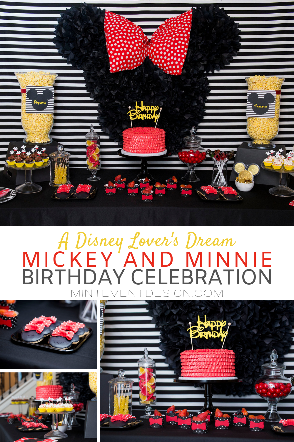 Adorable Mickey and Minnie Birthday Celebration, a Disney Lover's Dream from Austin based Party Stylist- Mint Event Design