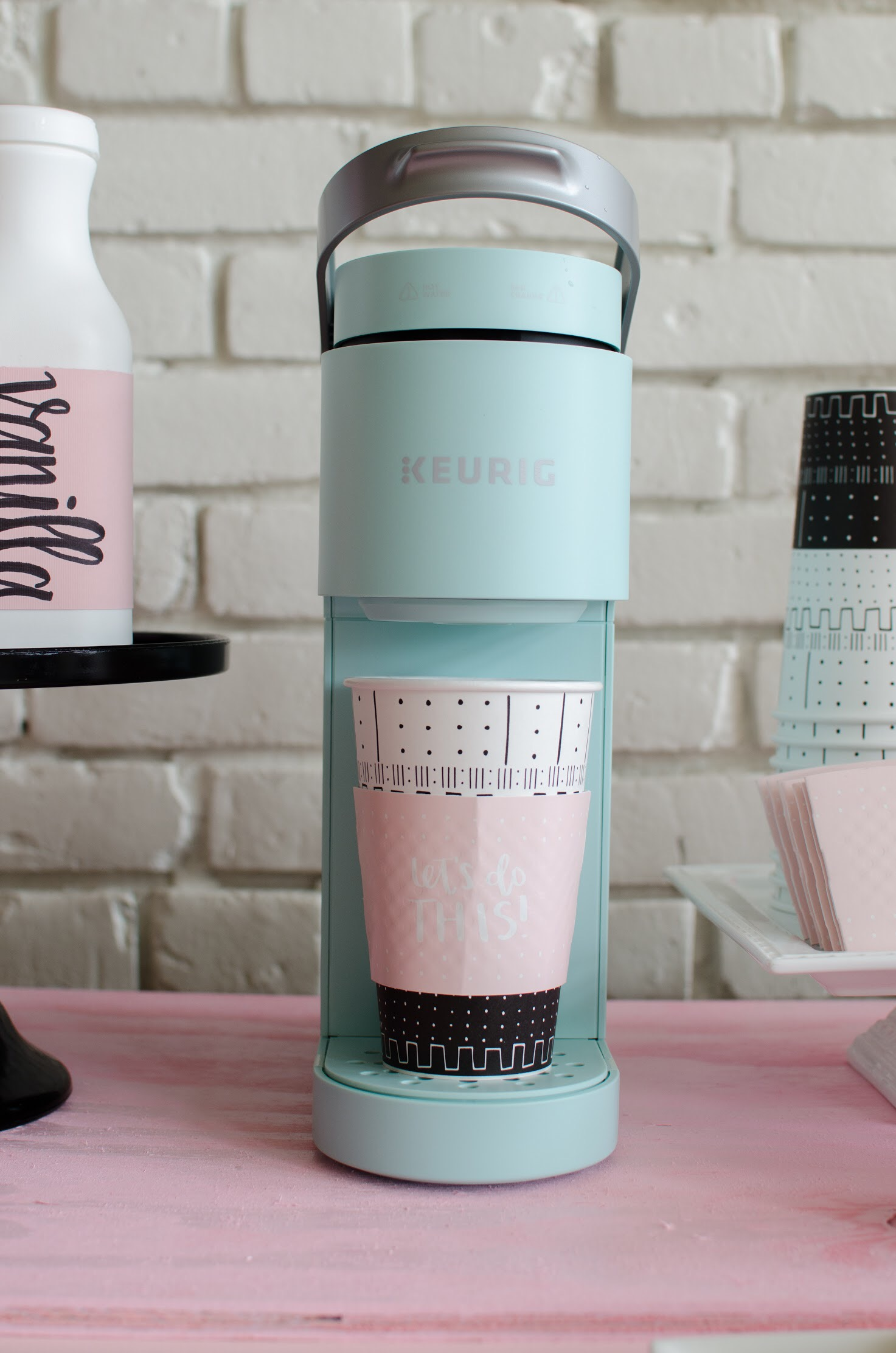 A mini keurig makes the perfect addition to any party!