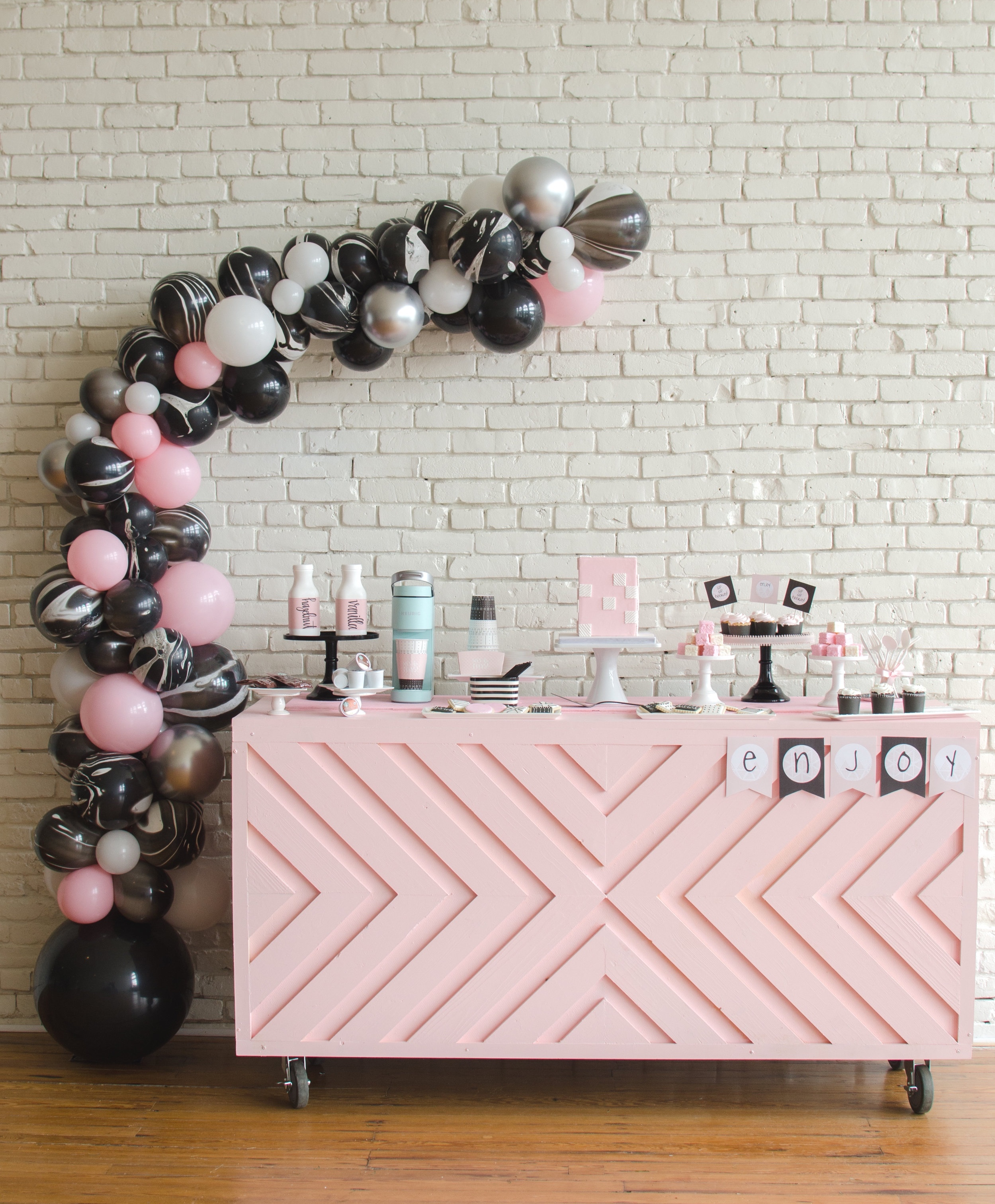 Adorable Galentine's Day Ladies Coffee and Desserts Party idea from Austin based party stylist Mint Event Design.
