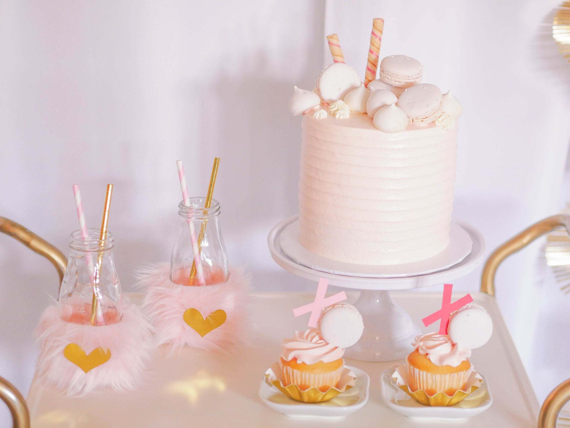 A Cotton candy colored dream! This Valentine's Dessert Cart from Mint Event Design is too sweet!