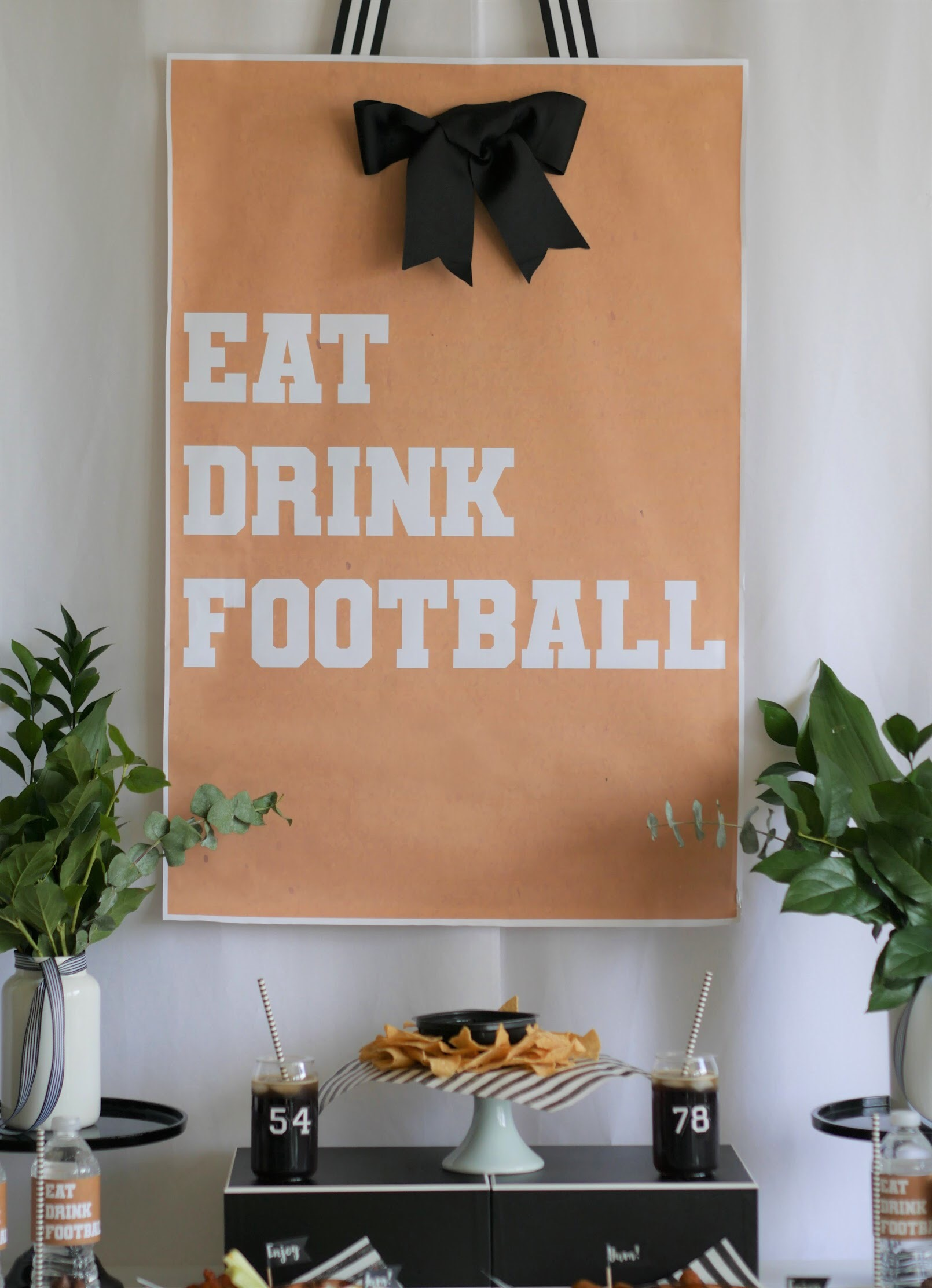 Printable football poster from Mint Event Design