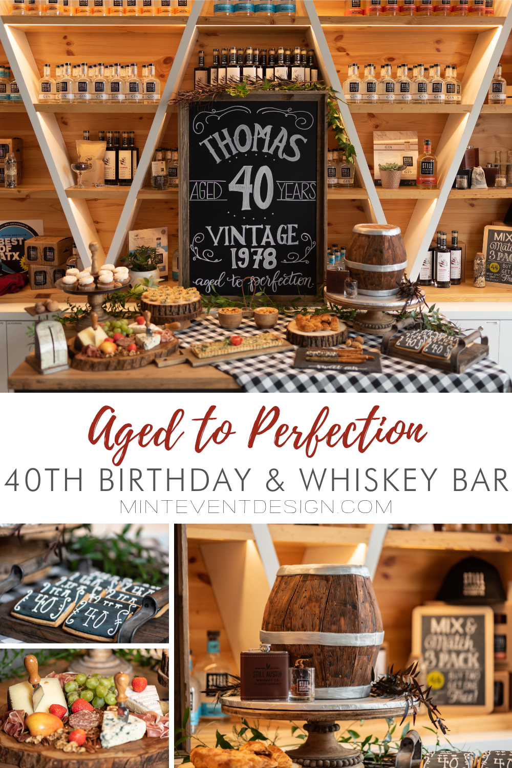 Aged to Perfection 40th Birthday Party & Whiskey Bar from Mint Event Design