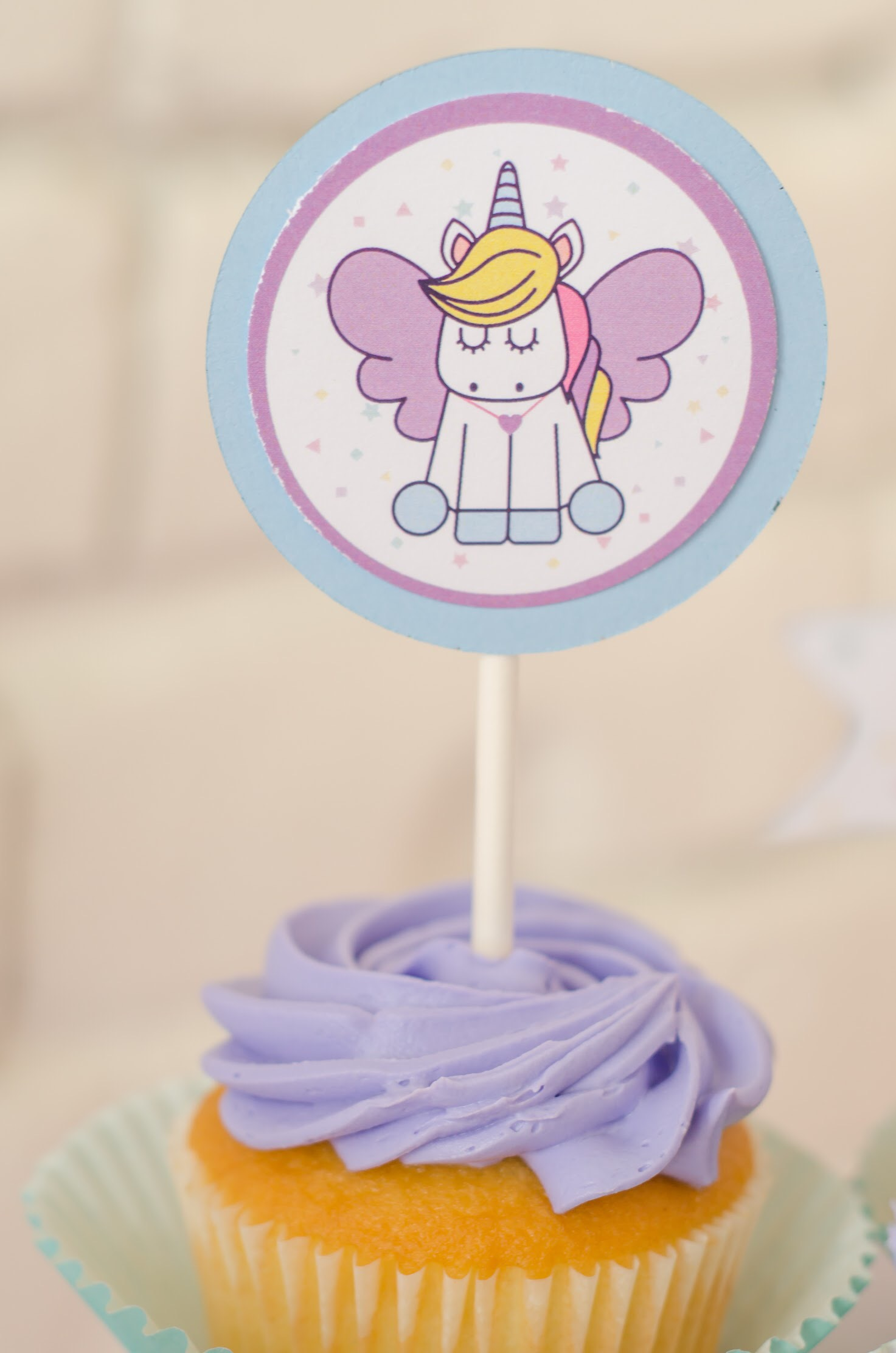 photograph regarding Unicorn Cupcake Toppers Printable named The Sweetest Unicorn Birthday Social gathering + Absolutely free Printables Mint