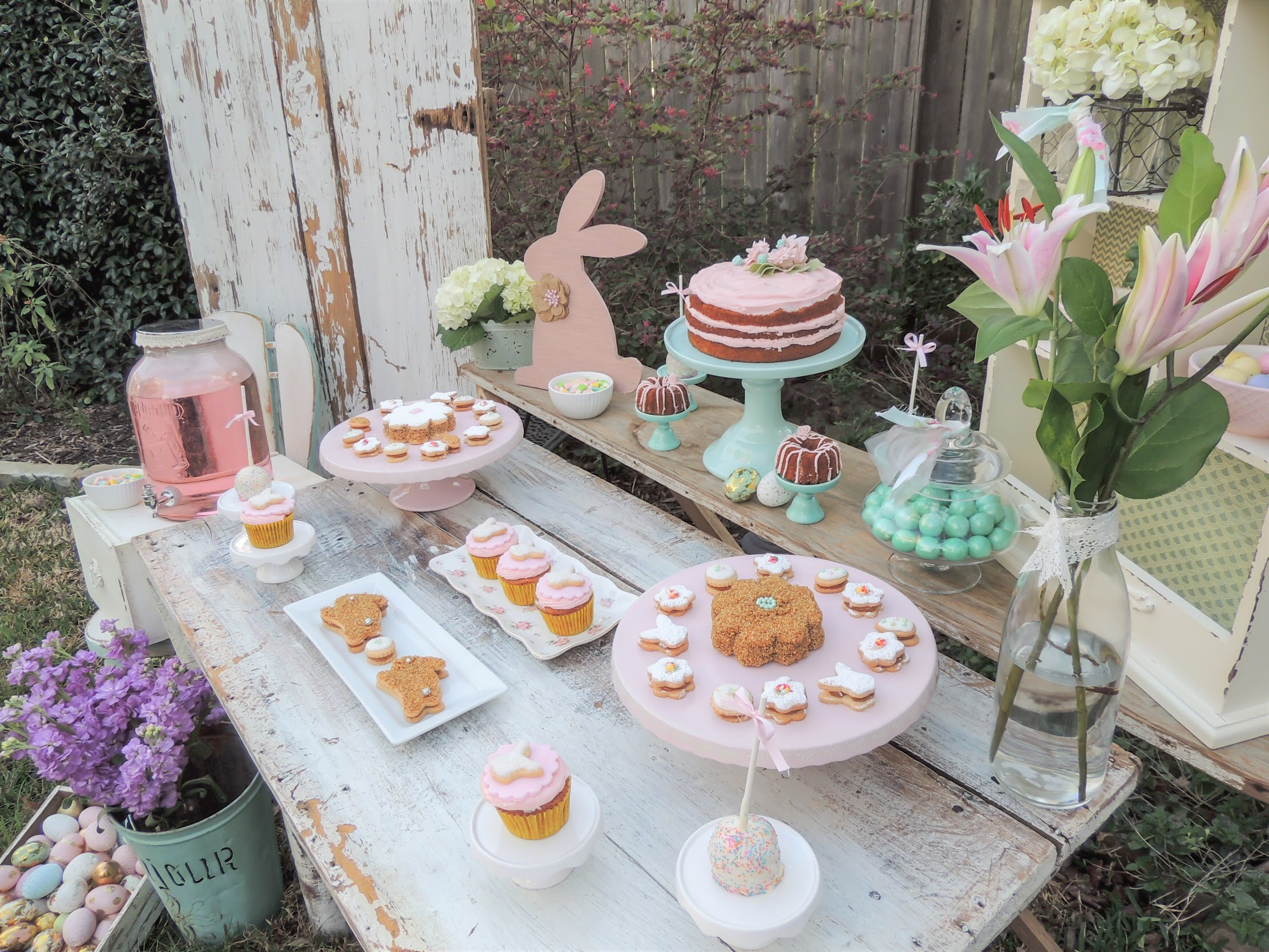 Love the idea of hosting a desserts party for Easter