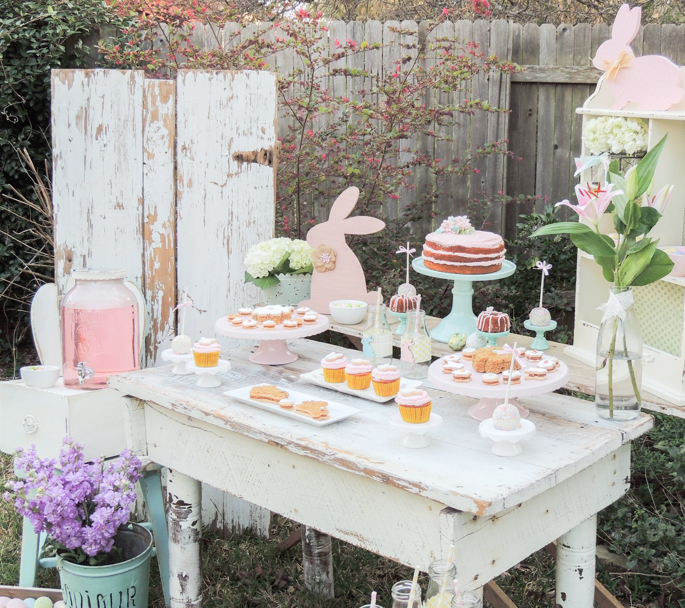 Vintage and shabby chic easter party ideas from Austin party stylist, Mint Event Design