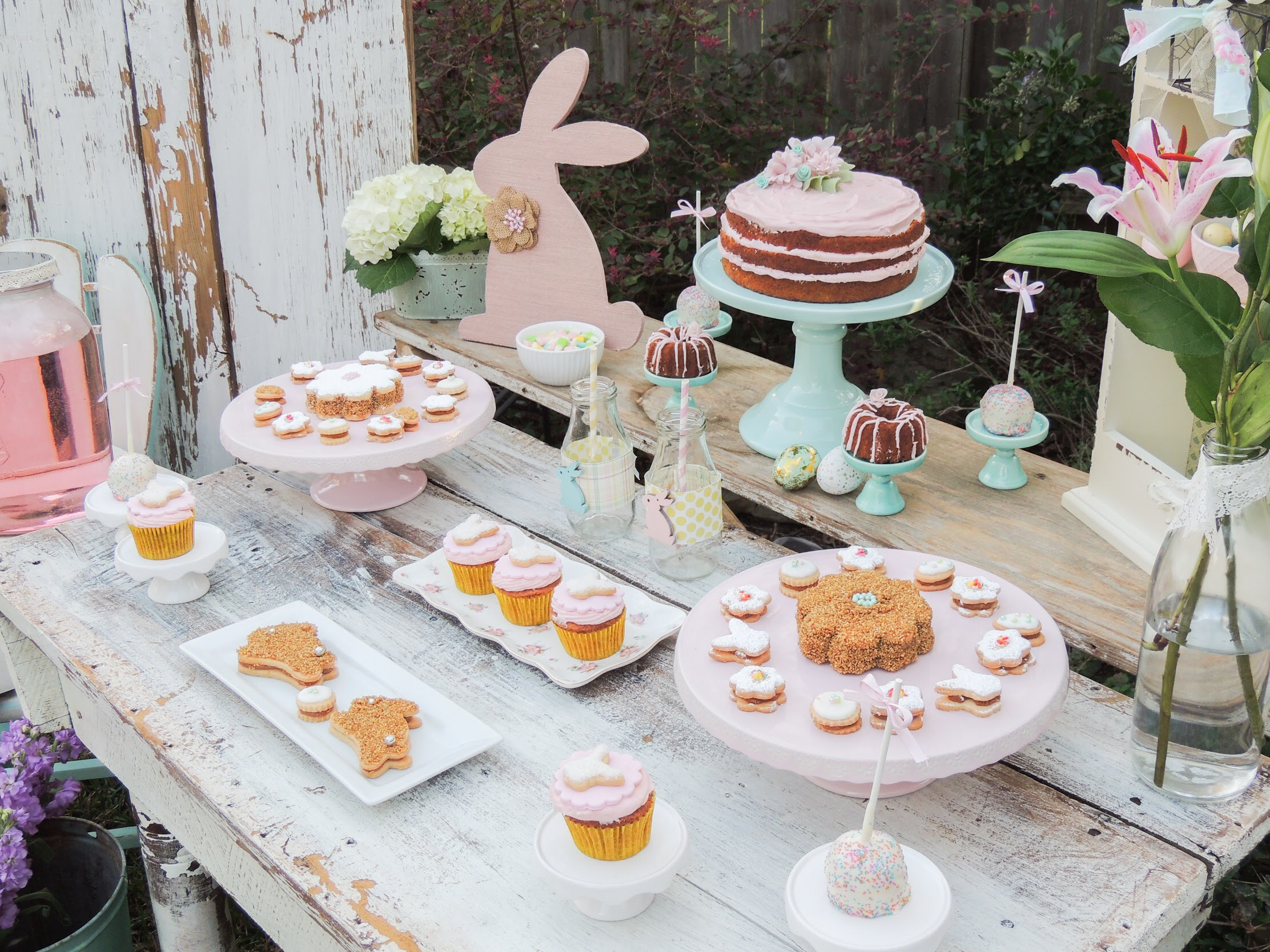 Shabby Chic Easter Dessert Party ideas from Mint Event Design
